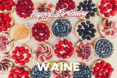 Happy Birthday Waine Cake Image