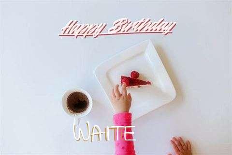 Happy Birthday Waite Cake Image