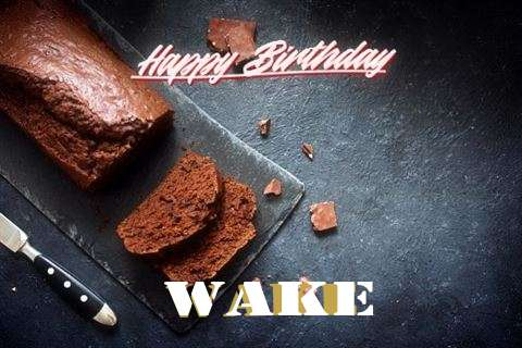 Happy Birthday Wake Cake Image