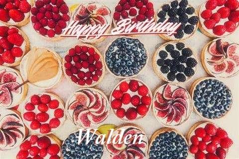 Happy Birthday Walden Cake Image