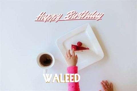 Happy Birthday Waleed Cake Image