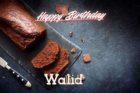 Happy Birthday Walid Cake Image
