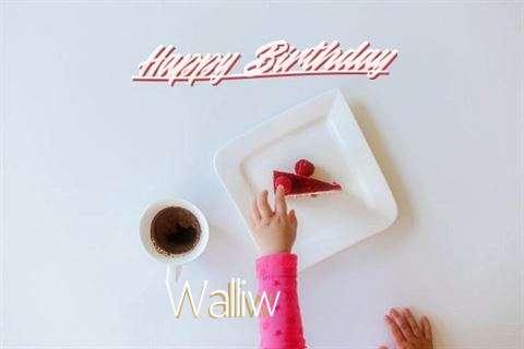 Happy Birthday Walliw Cake Image
