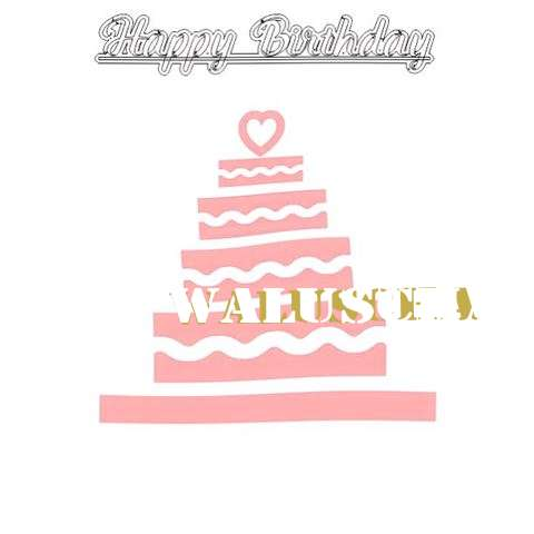 Happy Birthday Waluscha Cake Image