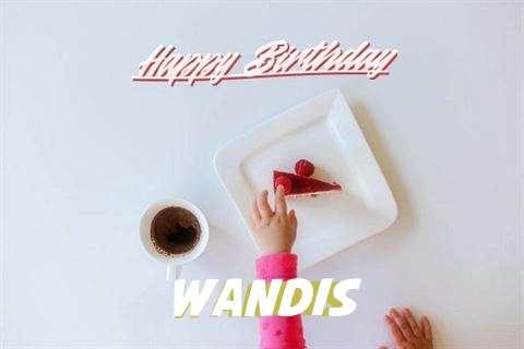 Happy Birthday Wandis Cake Image