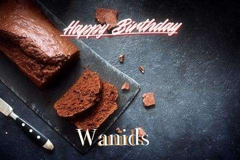 Happy Birthday Wanids Cake Image