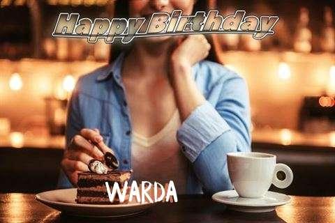Happy Birthday Cake for Warda