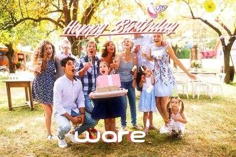 Happy Birthday Cake for Ware