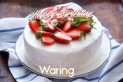 Happy Birthday Cake for Waring
