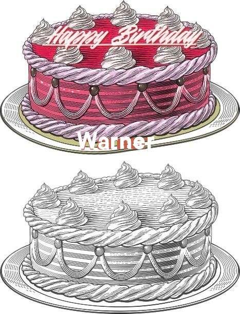 Happy Birthday Warner Cake Image