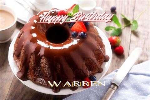 Happy Birthday Warren Cake Image