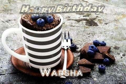 Happy Birthday Warsha Cake Image