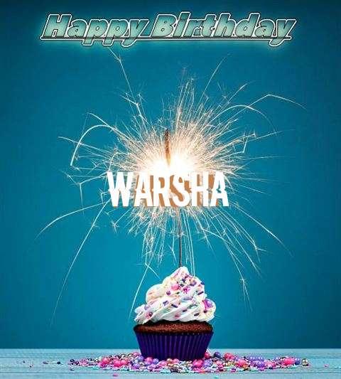 Happy Birthday Wishes for Warsha