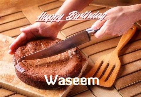 Happy Birthday Waseem Cake Image