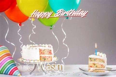 Happy Birthday Cake for Wasim