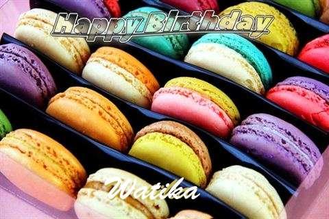 Happy Birthday Watika Cake Image