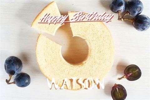 Happy Birthday Watson Cake Image