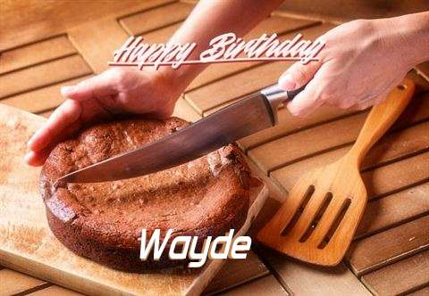 Happy Birthday Wayde Cake Image