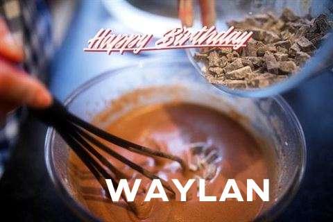 Happy Birthday Waylan Cake Image