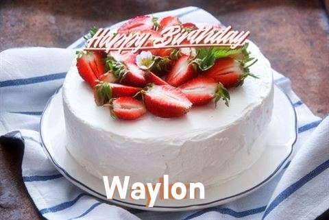 Happy Birthday Cake for Waylon