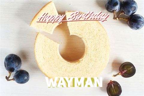 Happy Birthday Wayman Cake Image