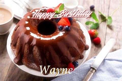 Happy Birthday Wayne Cake Image