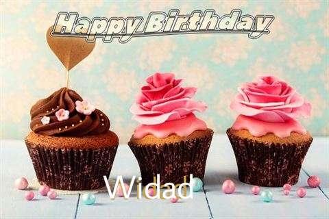 Happy Birthday Widad Cake Image