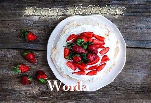 Happy Birthday Worda Cake Image