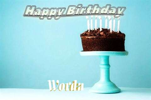 Happy Birthday Cake for Worda