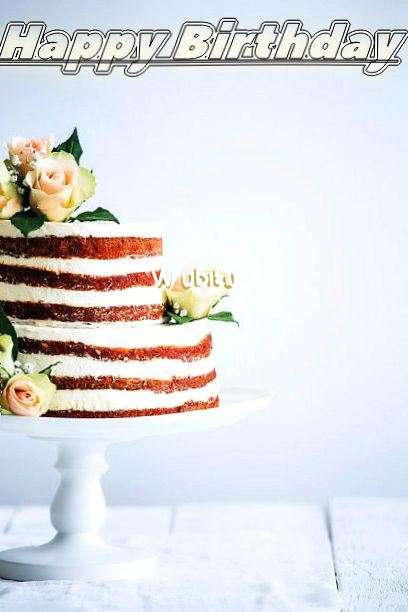 Happy Birthday Wubitu Cake Image