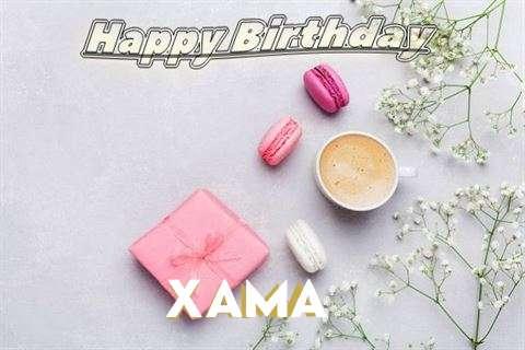 Happy Birthday Xama Cake Image