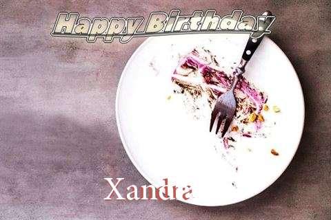 Happy Birthday Xandra Cake Image