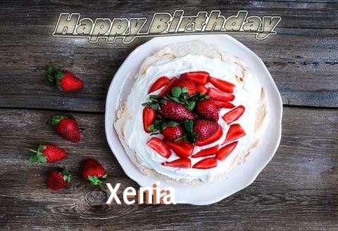 Happy Birthday Xenia Cake Image