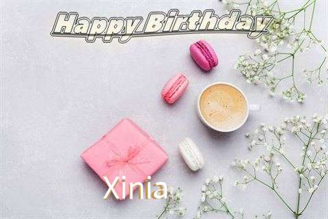Happy Birthday Xinia Cake Image