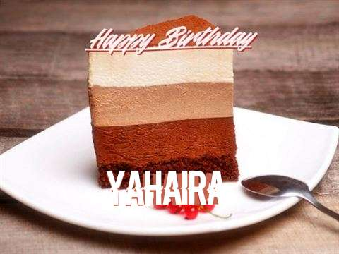 Happy Birthday Yahaira Cake Image