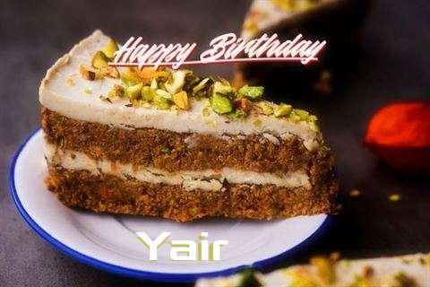 Happy Birthday Yair Cake Image
