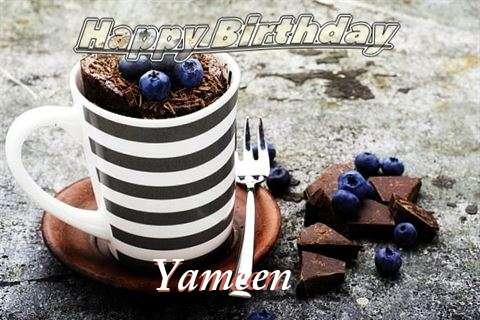 Happy Birthday Yameen Cake Image