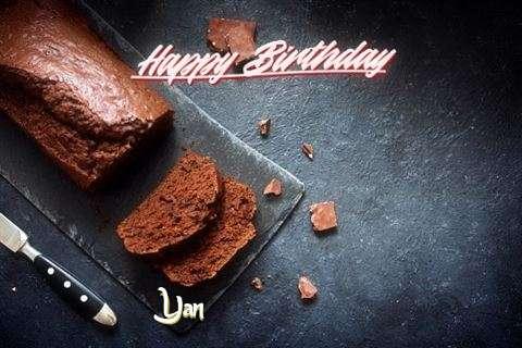 Happy Birthday Yan Cake Image