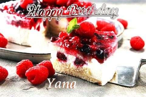 Happy Birthday Wishes for Yana