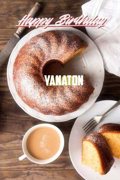 Happy Birthday Yanaton Cake Image