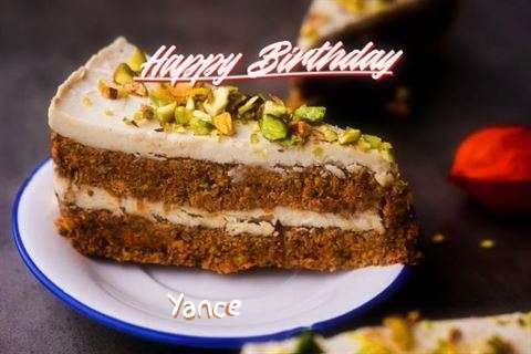 Happy Birthday Yance Cake Image