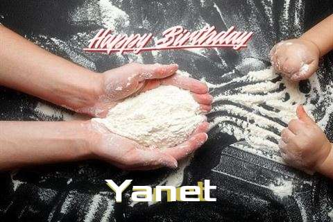 Happy Birthday Yanet Cake Image