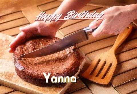 Happy Birthday Yanna Cake Image