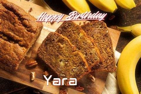 Happy Birthday Yara Cake Image