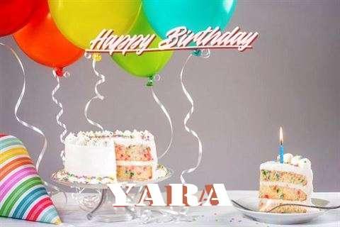 Happy Birthday Cake for Yara