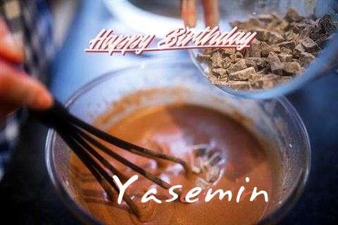 Happy Birthday Yasemin Cake Image