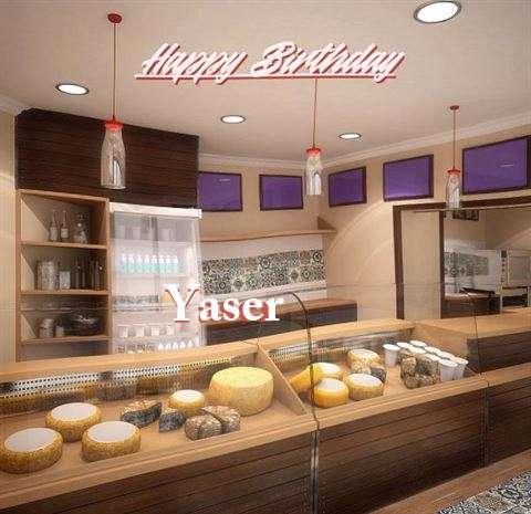 Happy Birthday Yaser Cake Image