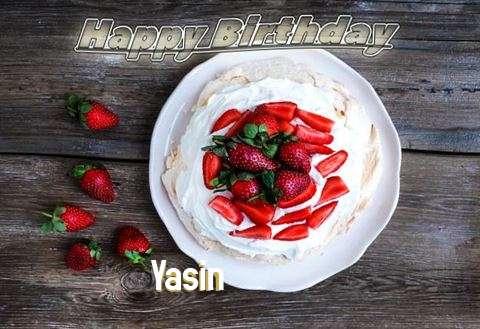 Happy Birthday Yasin Cake Image