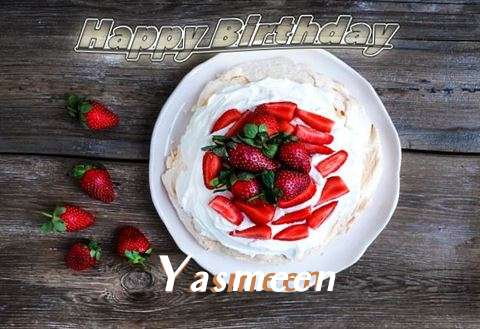 Happy Birthday Yasmeen Cake Image