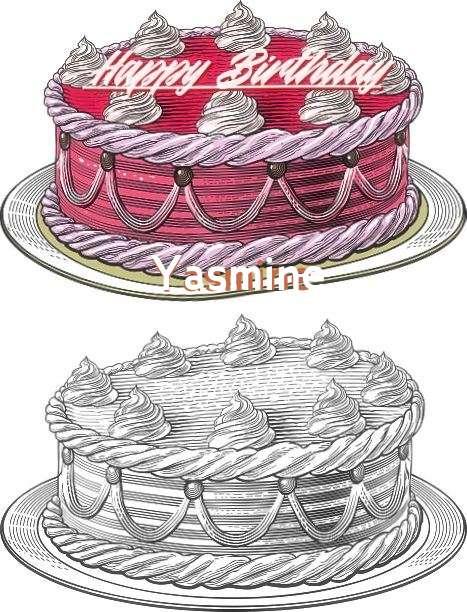 Happy Birthday Yasmine Cake Image